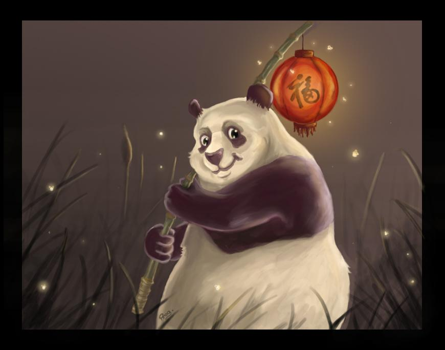 Panda with lantern by ~Progress87