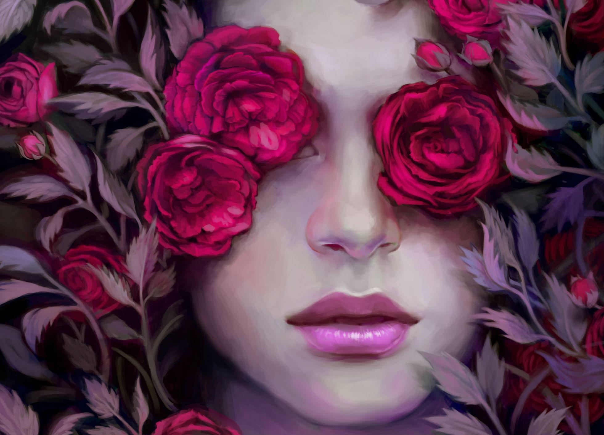 http://huyen-n00b.deviantart.com/art/Rose-s-Portrait-273713854 Wallpaper/Background 1960 x 1412 - id: 288389 - Wallpaper Abyss