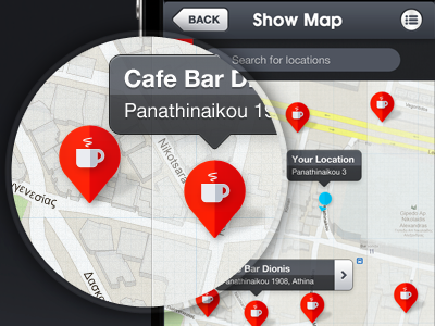 iOS App - Map Screen by Gert Tzafa