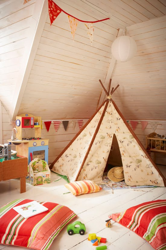 Oh the lovely things: Teepees for secrets and dreams
