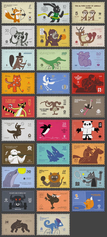 Post stamps - Ilya Kazakov