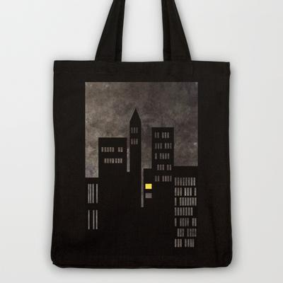 City Skyline Light Tote Bag by Ally Coxon | Society6