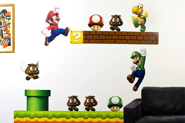 Nintendo Wall Graphics - New Super Mario Bros | Fancy Crave