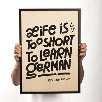 Typeverything.com 'Life is too short' wood print... - Typeverything