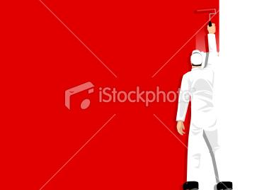 Paint It Red | Stock Illustration | iStock