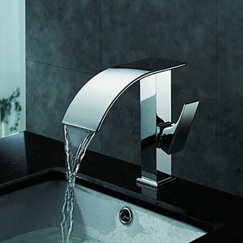 Contemporary Waterfall Bathroom Sink Faucet(Chrome Finish) – FaucetSuperDeal.com
