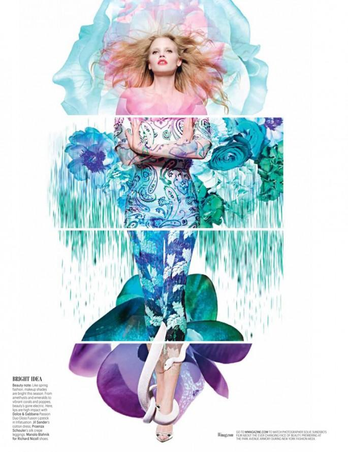 Lara Stone by Sølve Sundsbø for W Magazine March 2012 | Fashnberry.com