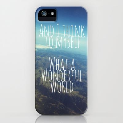 And I Think To Myself... iPhone Case by Ally Coxon | Society6