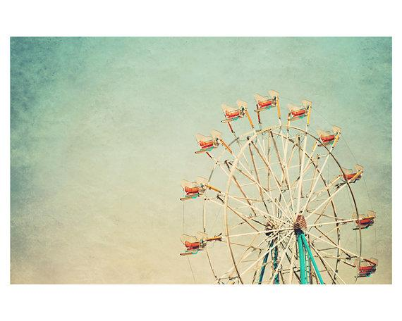 ferris wheel fair photo print whimsical fine by oohprettyshiny