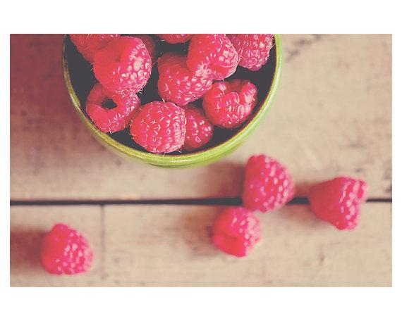 red raspberry fruit kitchen photo print by oohprettyshiny on Etsy