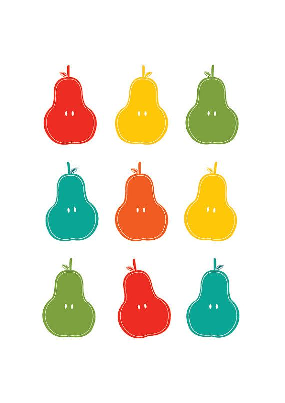 Pears Personalized Custom Color Children by simplygiftsonline