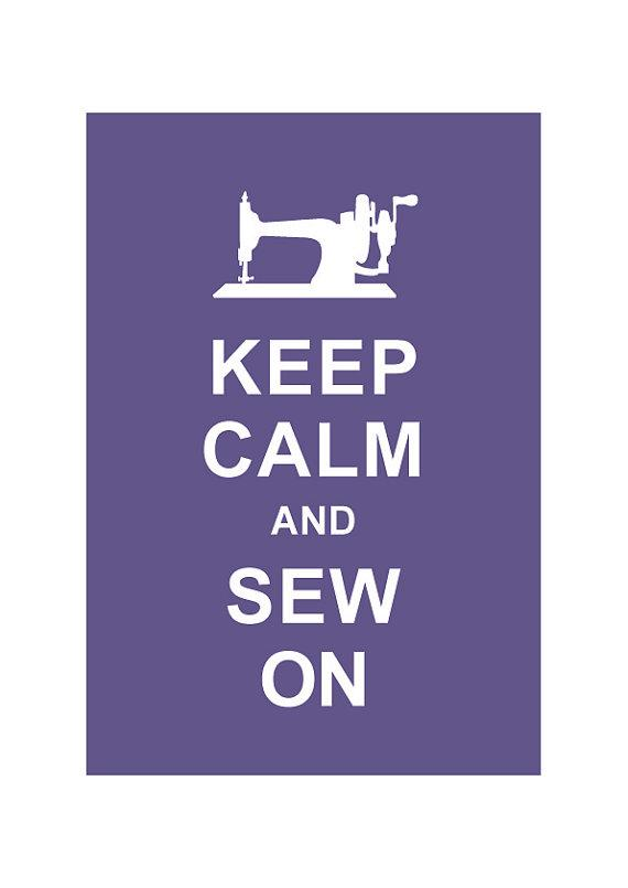 Keep Calm and Sew On Personalized custom by simplygiftsonline