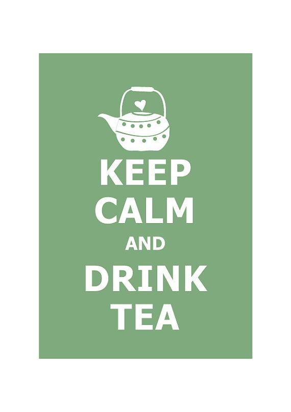 Keep Calm and Drink Tea Personalized custom by simplygiftsonline