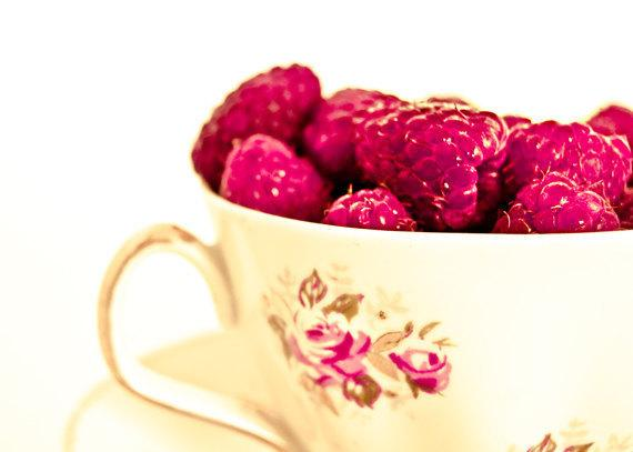 Kitchen photo raspberries white floral vintage by MyMonography