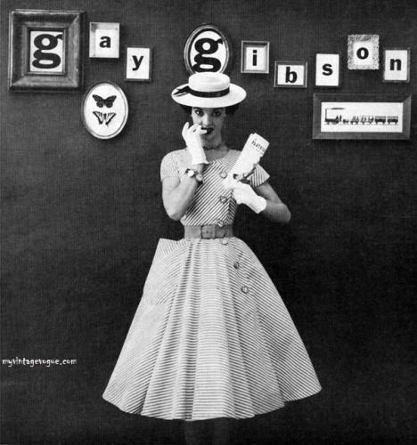 : myvintagevogue » 1950's » 1952 Gay Gibson