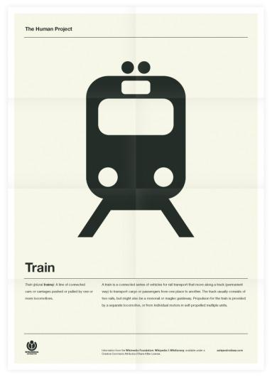Portfolio (Old) / The Human Project (Train) Poster — Designspiration