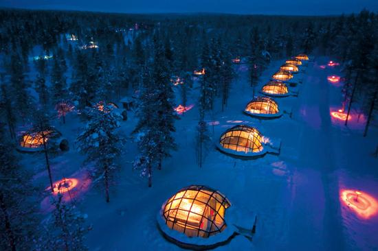 玻璃屋 在玻璃穹顶享受极地良宵_旅游休闲_时尚_MSN中文网