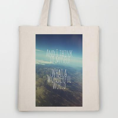 And I Think To Myself... Tote Bag by Ally Coxon | Society6