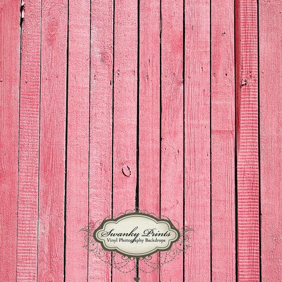 4ft x 4ft Vinyl Photography Backdrop / Pink Wood by SwankyPrints