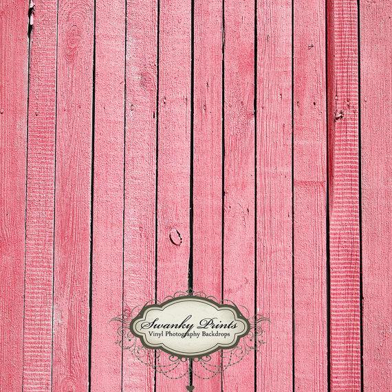 4ft x 4ft Vinyl Photography Backdrop / Pink Wood by SwankyPrints