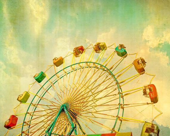 Carnival art ferris wheel large art nursery by CarlChristensen