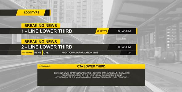After Effects Project Files - Lower Third Black | VideoHive