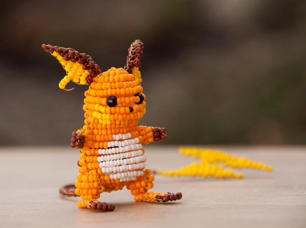 Robot Heart | (via Beaded Pokémon Sculptures @Craftzine.com...