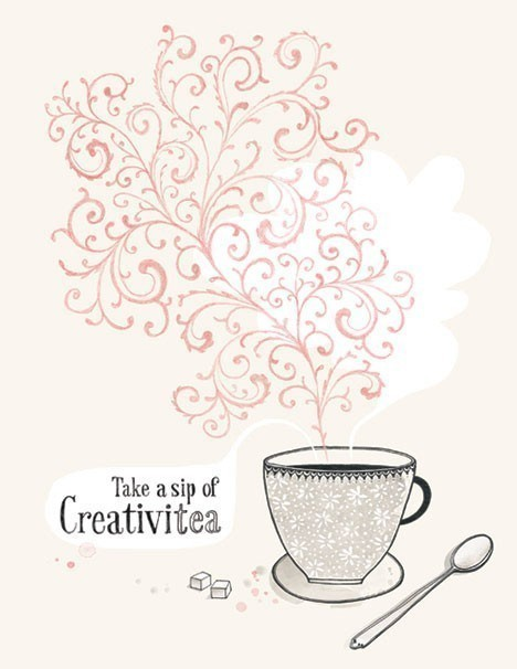 A Sip of Creativitea 85X11 by evajuliet on Etsy