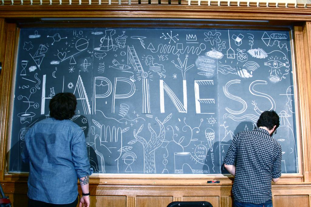 TEDx — TEDxNewHaven illustrates happiness.
