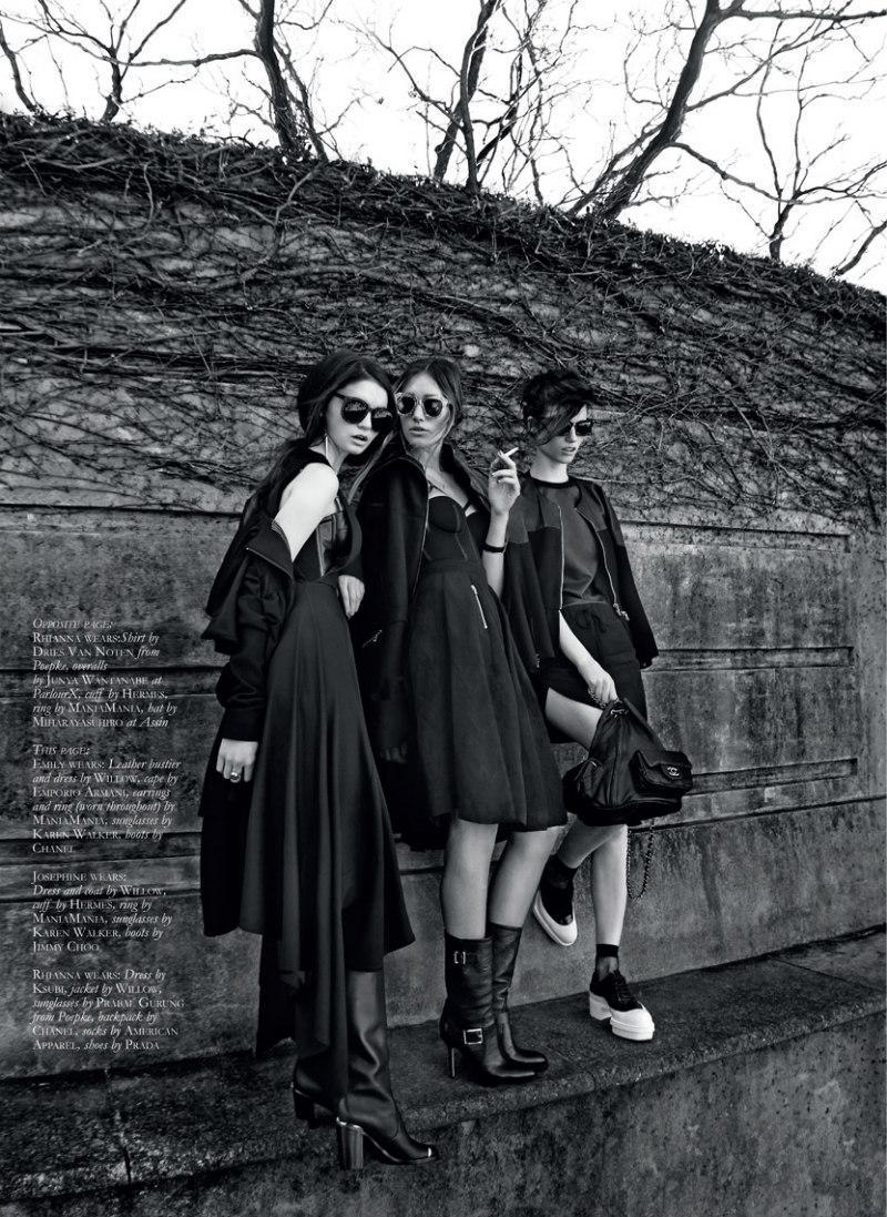 Rhianna Porter, Josephine Le Tutour and Emily Green by Thom Kerr