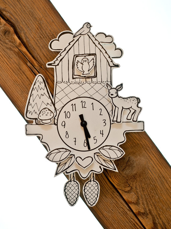 paper cuckoo clock by niceniceniceDE on Etsy