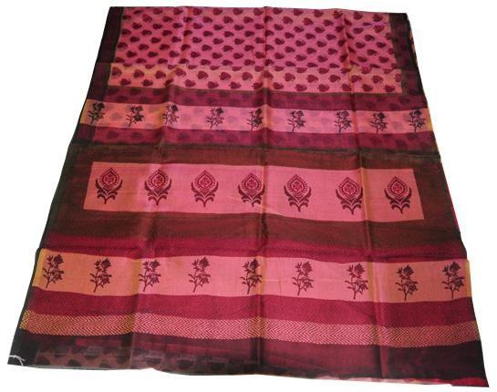 Pink pure cotton Kota saree - Craftsia - Indian Handmade Products & Gifts