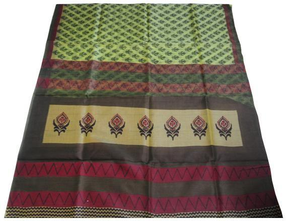 larger image Pale olive green Kota cotton saree - Craftsia - Indian Handmade Products & Gifts