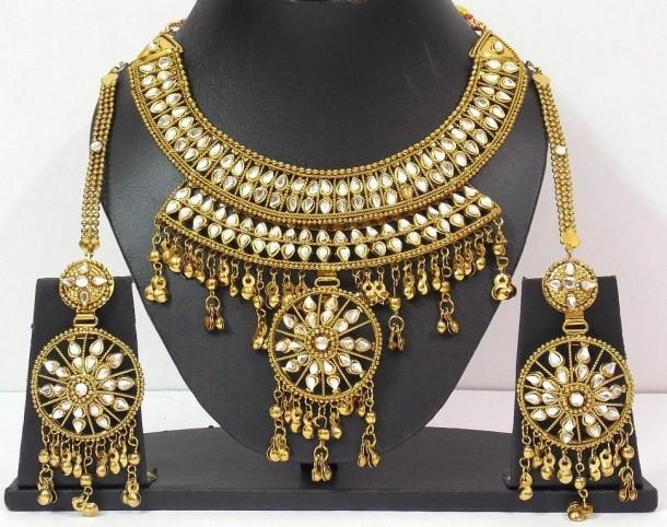 Navratri Dandia Special Antique Finish Necklace 1 - Craftsia - Indian Handmade Products & Gifts