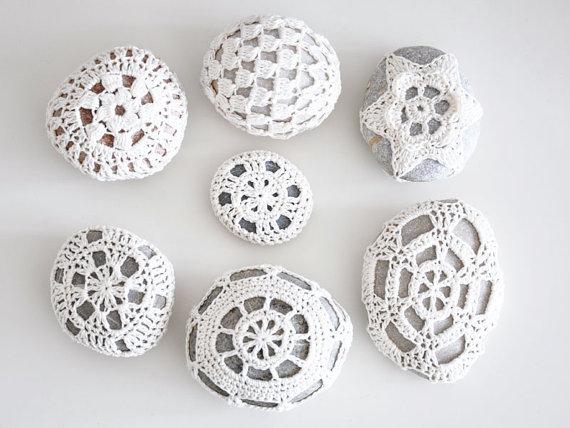 34 Crochet Lace Stone / Häkelstein Special Custom by missusD