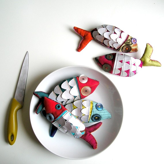 pesce d'aprile fish brooch MADE TO ORDER by LaGomez on Etsy