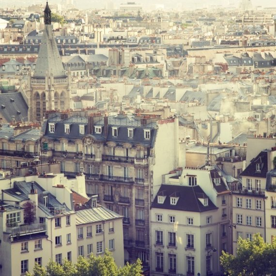 Paris Rooftops Photograph View of Paris by EyePoetryPhotography