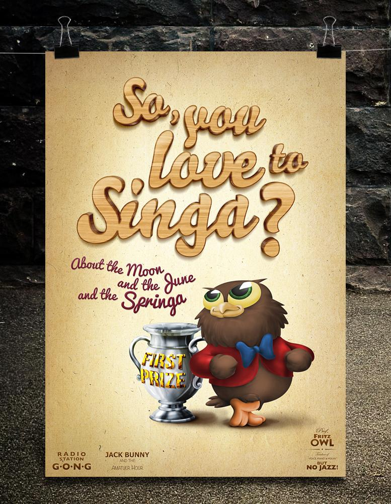 "my Works (""I Love to Singa"" Hice esta ilustración como...)"