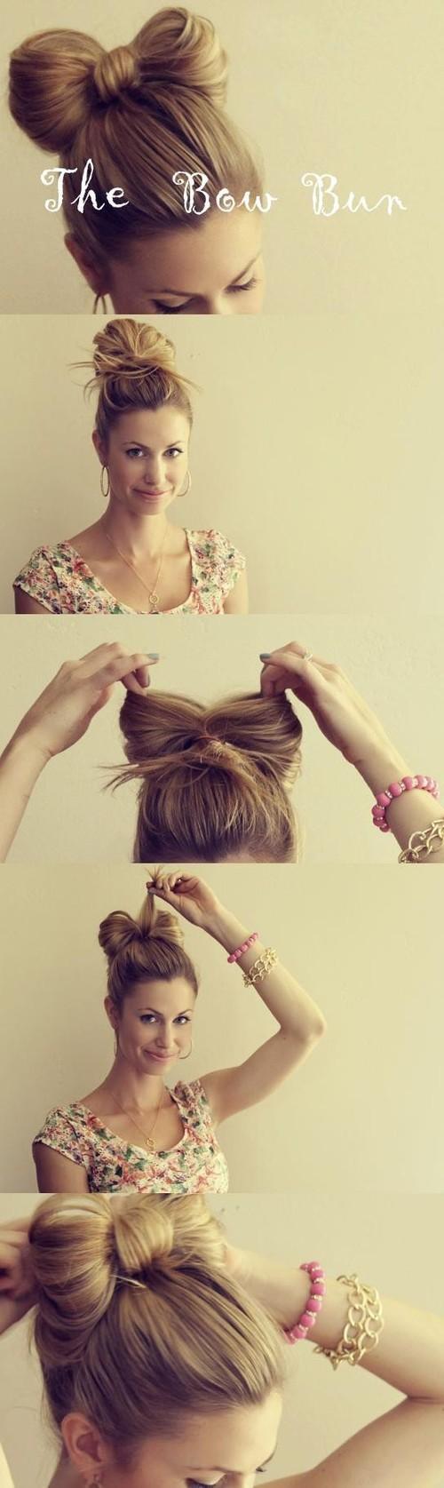 hair and makeup / Bow bun... Cute!