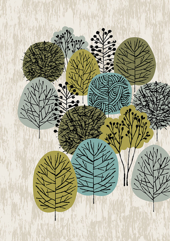 Little Woodland limited edition giclee print by EloiseRenouf