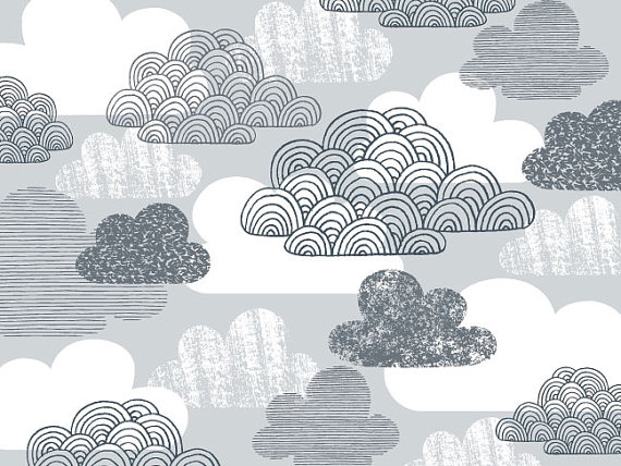 Drifting Clouds limited edition giclee print 8 x by EloiseRenouf