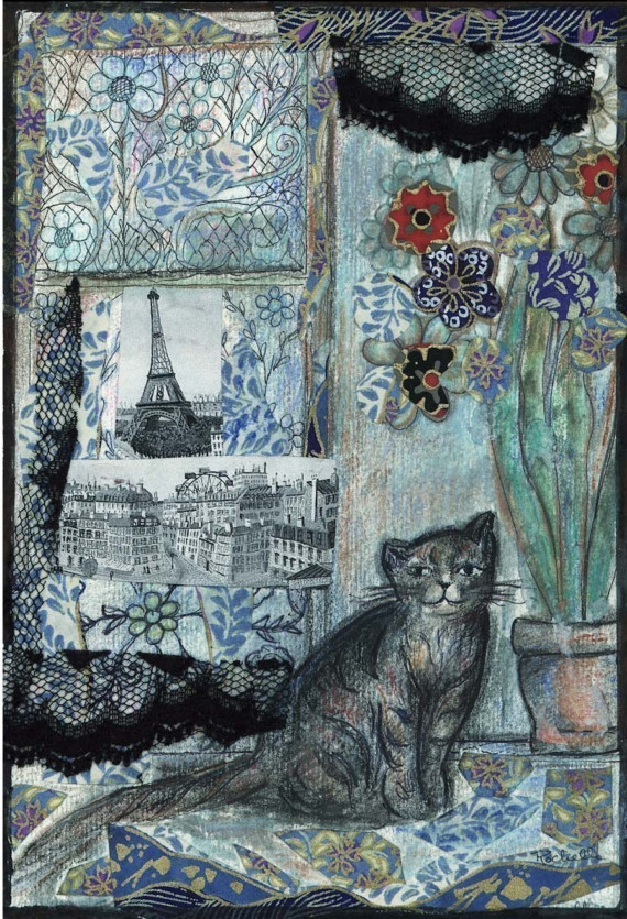 Paris Cat print by rochelle31 on Etsy