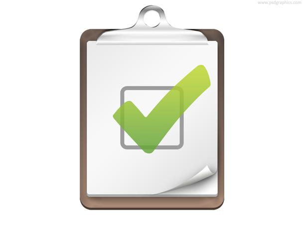 Checklist icon (PSD) | PSDGraphics