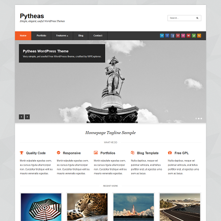 Pytheas Free Responsive Corporate/Portfolio WordPress Theme - WPExplorer