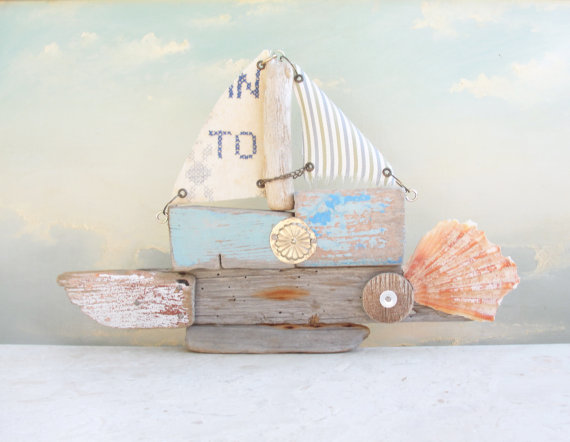 Where are You Going To Driftwood Boat by GiftsandStars on Etsy