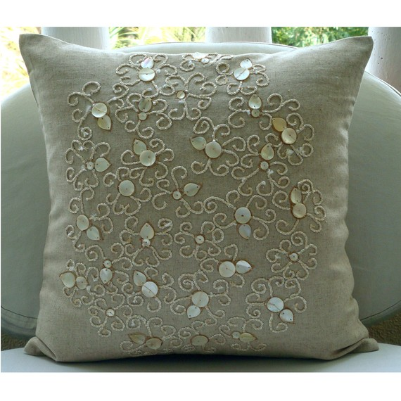 Pure Treasures Throw Pillow Covers 16x16 by TheHomeCentric