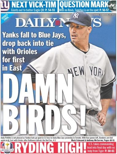 New York Daily News back pages for September 2012 - NY Daily News