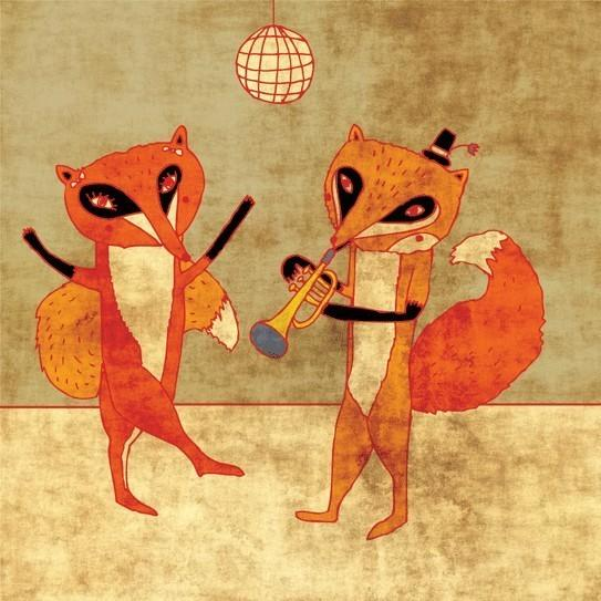 Fox party by schalle on Etsy