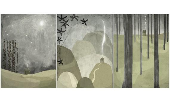 Nuit Set of 3 prints by aliette on Etsy
