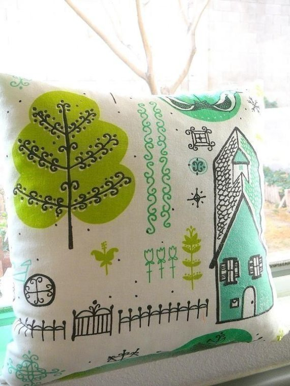 Come On To My Neighborhood Pillow by OIive on Etsy